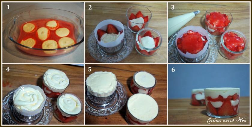 Paso a paso tiramisú fresas 2