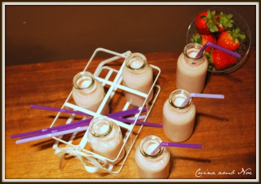 smoothie fresa y platano