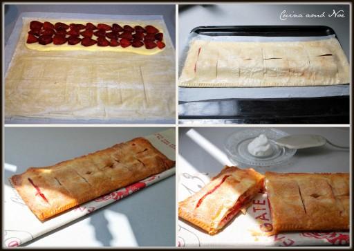 Pasta filo amb freses