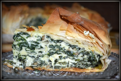 Pastel de espinacas y queso 2