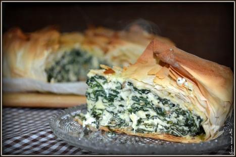 Pastel de espinacas y queso